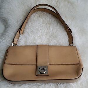 Salvatore ferragamo tan leather purse shoulder bag